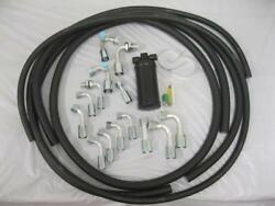 134a Air Conditioning Extended Length Hose Kit O-ring Fittings Drier Ac Kit New