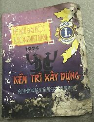Vietnam Lion Year Book And Directory 5th Congress Signed By Nguyen Van Thieu