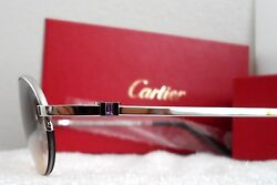NEW Cartier *AMETHYST*Beautiful Shigar T8100512 Semi Rimless Platinum Sunglasses