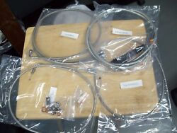 Nos La Choppers Standard Braided Stainless Handlebar Cable Brake Kit 0610-0645