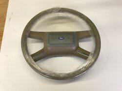 1983-86 Mustang Leather Wrapped Steering Wheel With Cruise Control - Nos - Beige