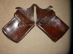 Victorian Horse British Military Mounted Troops Leather Saddle Pouches/bags