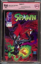 Spawn # 1 CBCS 9.6 White (Image, 1992) 1st appearance of Spawn McFarlane sig