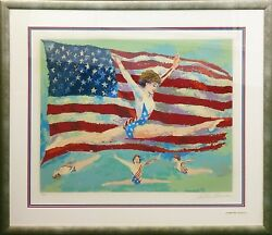 Leroy Neiman Golden Girl 1985 | Olympics | Hand Signed Print | Others Avail