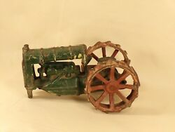 1920's Arcade Cast Iron Fordson 275-7 Tractor Toy For Parts