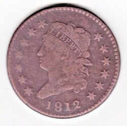 1812 Classic Head Large Cent V. Fine+