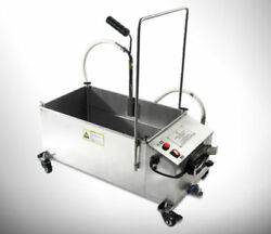 New 58l Oil Filter Oil Filtration System Filtering Machine For Frying Oil