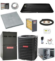 HORIZONTAL_MOST COMPLETE 80% 100k btu Gas Furnace & 3 Ton 13 SEER AC + EXTRAS