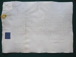 Signed Document King George Iv George Canning Sir Robert Ker Porter Columbia