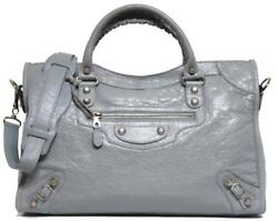 New Balenciaga City Giant 12 Arena Blue Opaline Leather Bag