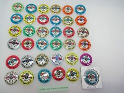 36 Vtg. State Of Alaska Teamsters Local Union 959 Small Round 1 1/4 Pinbacks