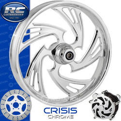 Rc Components Crisis Chrome Custom Motorcycle Wheel Harley Touring Baggers 21