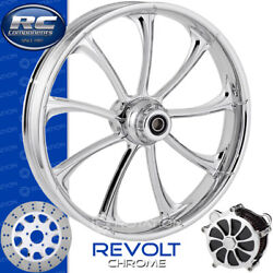 Rc Components Revolt Chrome Custom Motorcycle Wheel Harley Touring Baggers 21