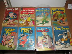 Porky Pig, Bugs Bunny, Disney And Others Comic Book Lot Of 8, Mostly Dell 1950's
