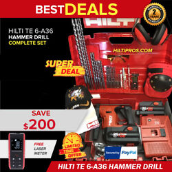 Hilti Te 6-a 36 Hammer Drill, New, Free Laser Meter, Extras, Fast Ship
