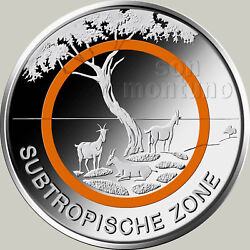 25 COINS - SUBTROPICAL ZONE Climate Zones 2018 Germany 5 Euro SEALED MINT ROLL