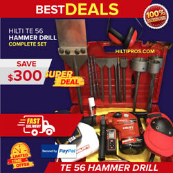 Hilti Te 56 Preowned Free Laser Meter Set Of Bits A Lot Of Extras Quick Ship