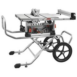 Skilsaw Spt99-11 120 Volt 10 Inch 1800 Watt Corded Worm Drive Table Saw W/ Stand