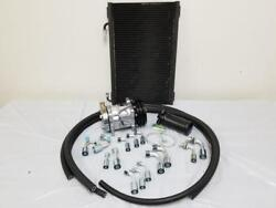 Universal 134a Air Conditioning AC Hose Kit + Drier Condenser & Plain Compressor
