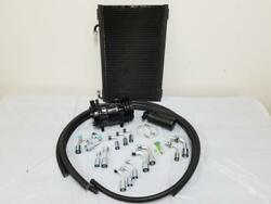 Universal 134a Air Conditioning Ac Hose Kit + Drier Condenser And Black Compressor