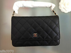 CHANEL Caviar Wallet On Chain - New