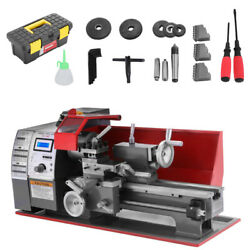 Precision Mini Metal Lathe Automatic Wood Drilling Machine Benchtop 7and039and039x12and039and039