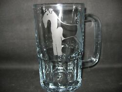 NEW ETCHED WELSH TERRIER GLASS ROOT BEER MUG