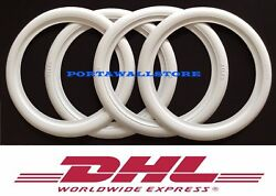 Hot Rod 15 New Rubber White Wall Tire Trims Port-a-wall.set.vw Bug Beetle .202