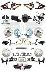 1964-1972 Gm A Body Chevelle Wilwood Disc Brake Kit 9 Black Dual Booster A Arms