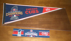 2016 Chicago Cubs World Series Champions Pennant And Street Sign