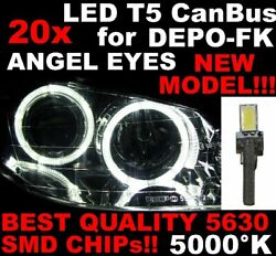 Nanddeg 20 Led T5 5000k Canbus Smd 5630 Luces Angel Eyes Depo Opel Vectra C 1d6es 1d6