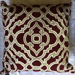 ENVOGUE HOME DECORATIVE SQUARE PILLOW BURGANDY