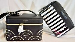 Victorias Secret LIMITED 2Pc Set TRAIN CASE NEW YORK EXCLUSIVE Cosmetic Bag NWT