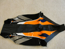 One Industries Ktm Black, Orange And Blue Grip Seat Cover