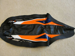 One Industries Ktm Black, Orange And Blue Seat Cover