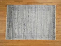 5and03910x8and0391 Wool And Silk Agra Broken Design Handknotted Oriental Rug G40005