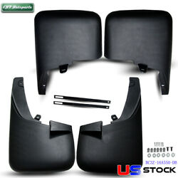 Front & Rear Molded Splash Guard 4PCS for Ford F250 F350 11-16 W Fender Flares