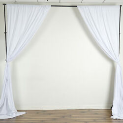 White 10 X 10 Ft Polyester Backdrop Curtains Drapes Panels Home Decorations