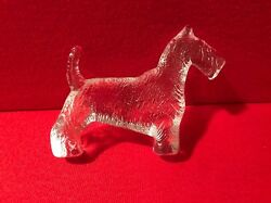 Scottish Terrier Crystal Figurine Dog Scotty Clear Puppy Paperweight Waterford ?