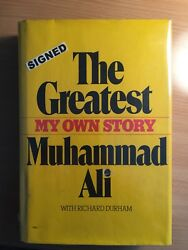 One Of A Kind Muhammad Ali Signed Book With Poem To Movie Star Lola Falana