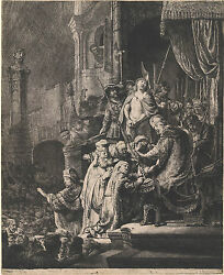 Rembrandt Reproductions Christ Before Pilate Large Plate Fine Art Print