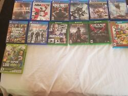 Mid-condition Video Games. Xbox One Ps4 And Wii U.