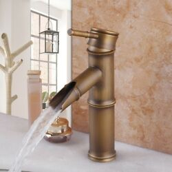 Antique Style Brass Faucets Bathroom Sink Basin Faucet Mixer Water Tap Deck