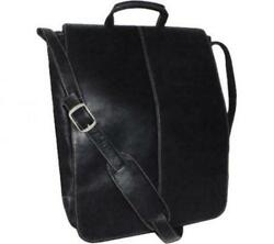 Royce Leather 17 Inch Colombian Leather Laptop Messenger Bag Black One Size