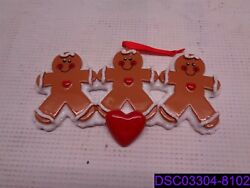 Qty = 12 Gingerbread Family Personalized Christmas Tree Ornament Rm8-2, Rm8-3