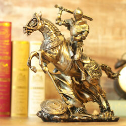 Medieval Soldier Vintage Resin Figurine Knight Warrior Home Decoration Statues