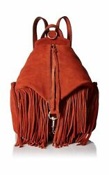 Rebecca Minkoff Women's Fringe Medium Julian Backpack Baked Clay