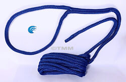 1 Blue Double Braided 1/2 X 20and039 Ft Hq Boat Marine Dock Line Mooring Rope