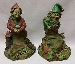 Tom Clark Gnomes Noel Andyule Year 1984 Editions 81 And 90 Both W/coas And Signed