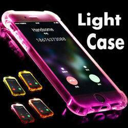 LED Flash Lighting Armor TPU Case Clear Incoming Call Cover For iPhone 11 8P XR